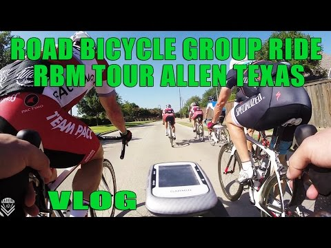 Road Bicycle Group Ride RBM Tour Allen Texas VLOG