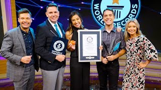 BREAKING A GUINNESS WORLD RECORD ON TV! *LIVE w/ Kelly & Ryan!*