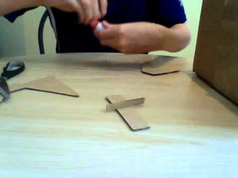 How to make a cardboard cardstand - YouTube