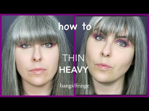 How To Thin Heavy Bangs | Rockstar Fringe | Shag Long Piecey