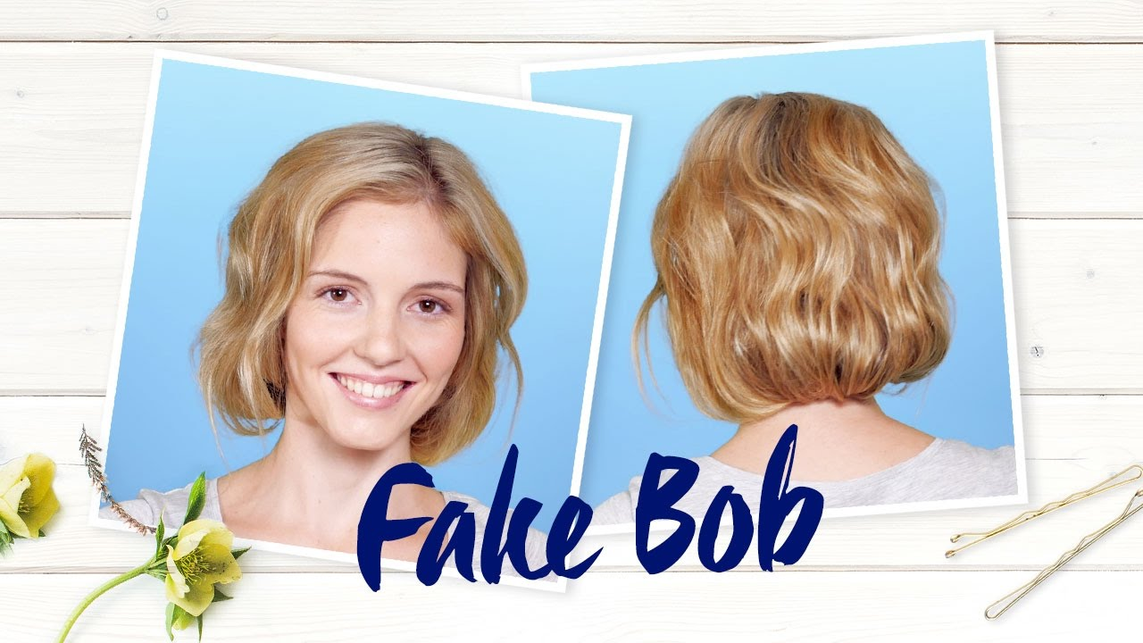 Fake Bob Nivea Frisuren Tutorial Youtube