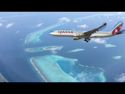 Qatar Airways Landing in Maldives