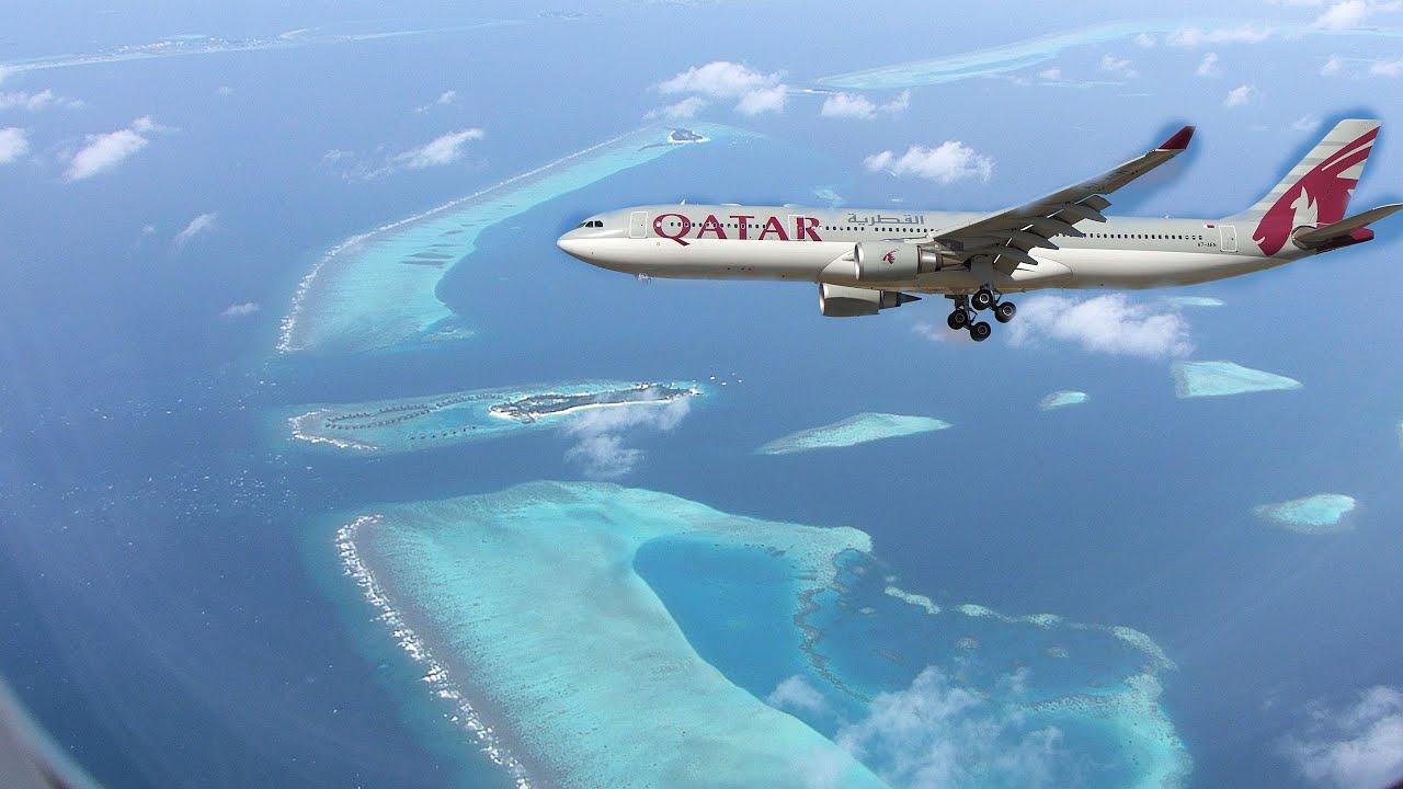 Qatar airways landing in maldives youtube stopboris Choice Image