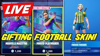 GIFTING SOCCER SKINS! HOSTING CUSTOM MATCH MAKING // EU // (FORTNITE LIVE STREAM)