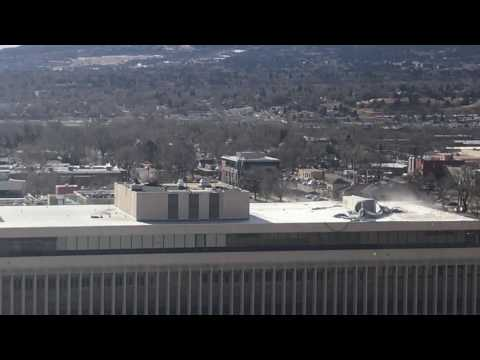 Colorado Springs - El Paso County Courthouse Roof in High Winds - 01/09/2017