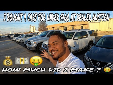 I BOUGHT 4 CARS FOR UNDER $700 AT DEALER AUCTION ... HOW MUCH DID I MAKE ? 🤑