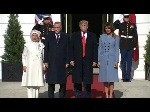 AFP news agency: Donald Trump greets