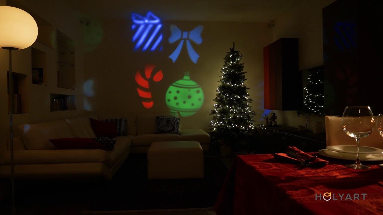 Proiettore Luci Natalizie Interno.Proiettore Luci Natale Per Interno Proiettore Effetto Cristalli Di