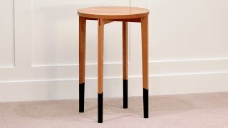Round Side Table With Tube Socks, High End Furniture Making