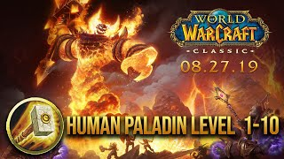 WORLDS FIRST CLASSIC WOW BETA FOOTAGE! PALADIN 1-10 LEVELLING ROUTE!