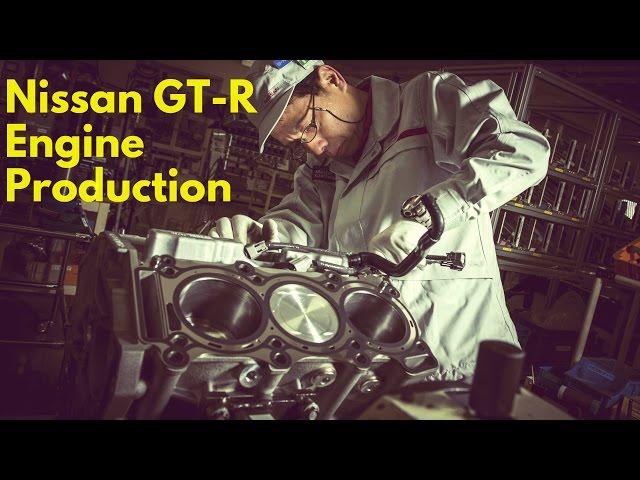 Фото к видео: 2017 Nissan GT-R 3.8L twin-turbo V6 Engine Production