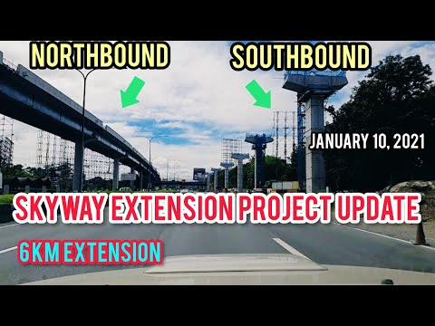 SKYWAY EXTENSION PROJECT(SOUTH PORTION) UPDATE & SIGHTSEEING TOUR! JANUARY 10, 2021.