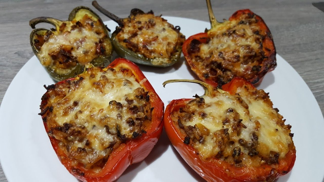 beef and chorizo stuffed peppers inspired by jamie oliver youtube. Black Bedroom Furniture Sets. Home Design Ideas