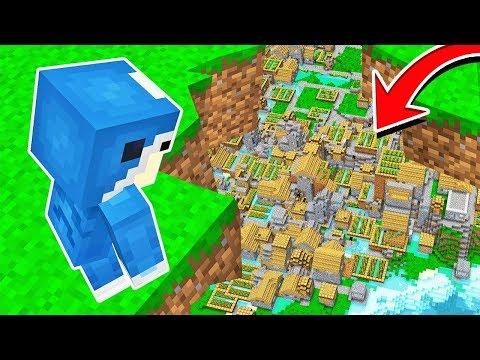 DISCOVERING A CITY UNDERNEATH GRASS IN MINECRAFT!