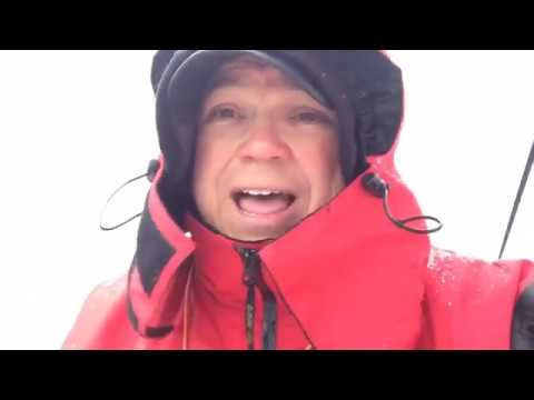 Fishing in the Snow - Lake Norman Winter Fishing - Trolling for Hybrids & Perch on Lake Norman