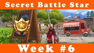 Où trouver la saison 4 Semaine 6 Secret Battle Star Fortnite Battle Royale (Blockbuster #6)