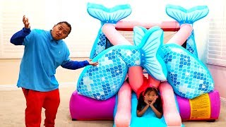Wendy Pretend Play with Giant Mermaid Bounce PlayHouse