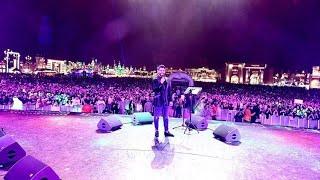 محمود التركي يجنن الجمهور في حفل القريه العالميه _ دبي 2020