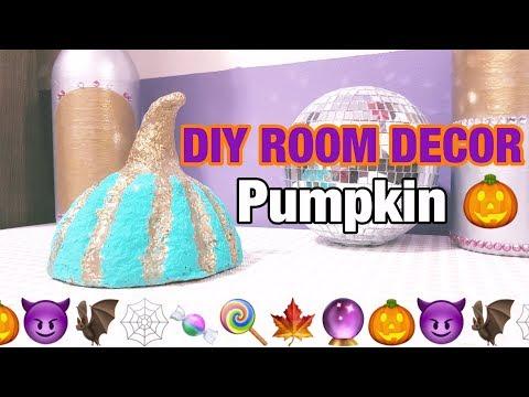 Diy Fall Pumpkin - Room Decor - Paper Mache - Easy Crafts