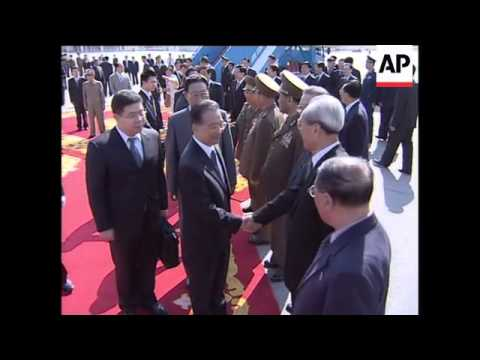 China's Premier Wen meets NKorean leader Kim Jong Il at airport