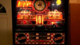 Williams DINER pinball machine: coin mechs, tilt and slam tilt