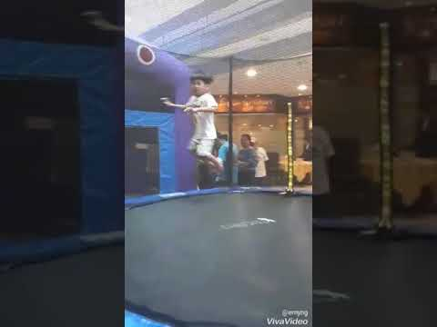 Trampoline in Forum Shopping Centre and Rochester Mall