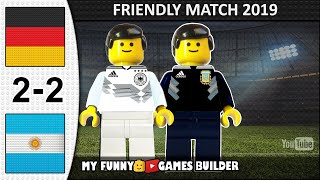 Germany vs Argentina 2 2 International Friendly 10 10 2019 All Goals Highlights LEGO Football