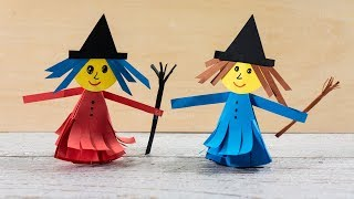 How to make a Paper Witch | Halloween Crafts for Kids | Activities for Kids