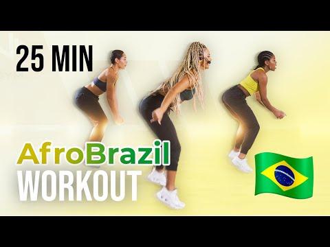 AFRO BRAZIL WORKOUT   25 MINUTES   FUN CARDIO