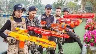 LTT Nerf War : Police Patrol SEAL X Warriors Nerf Guns Fight Criminal Group Dr Lee Rescue Lover