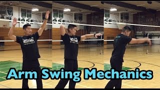 Arm Swing Mechanics : 3 Motions (part 1/2) - How to SPIKE a Volleyball Tutorial