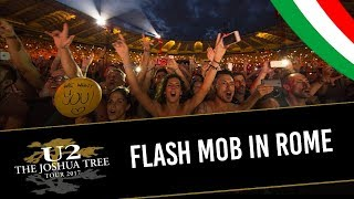 U2 fans make FLASH MOB during WITH OR WITHOUT YOU in ROME (MULTICAM - HD/IEM audio)