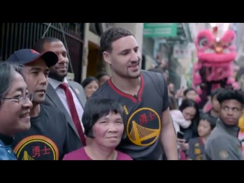 Thompson, Warriors Celebrate Chinese New Year
