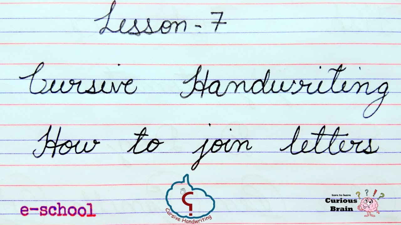 How To Make The Letter J In Cursive