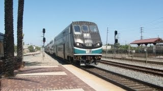 Railfanning SO CAL - Fullerton - Train 10 of 23 - Metrolink Rotem Cabcar 681 Arrives  June 15, 2013