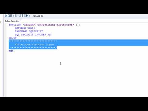 Use Table Function in HANA models - YouTube