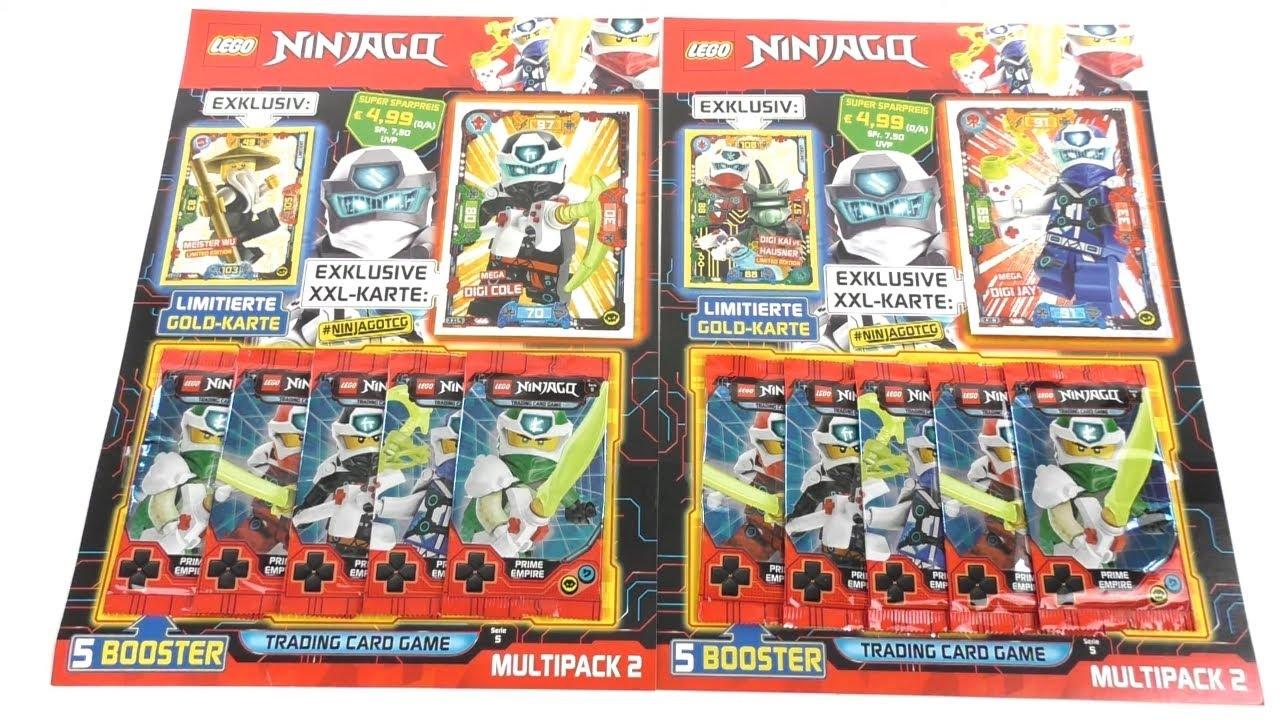 alle 4 Blister NEU alle 4 Multipack LEGO Ninjago Serie 5 Trading Card Game