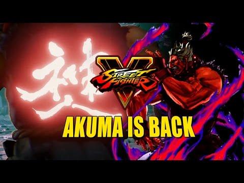 AKUMA IS BACK: Street Fighter 5 Teaser & Details