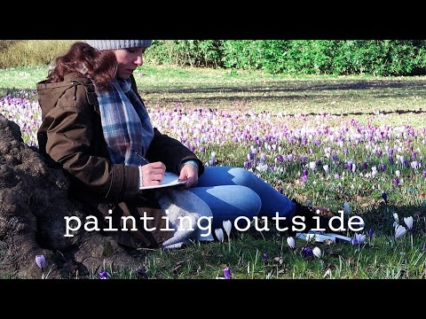 What it feels like to paint outside the studio