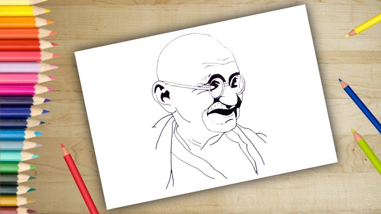 Mahatma gandhi pencil drawing mahatma karamchand gandhi