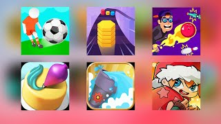 Bowling Idle, Cake Decorate, WaterSmash, Color Stack, Monster Tycoon, Goal Party