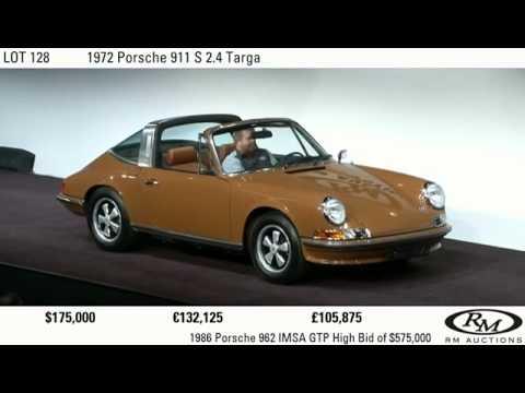 $220k USD hammer: 1972 Porsche 911 S 2.4 Targa
