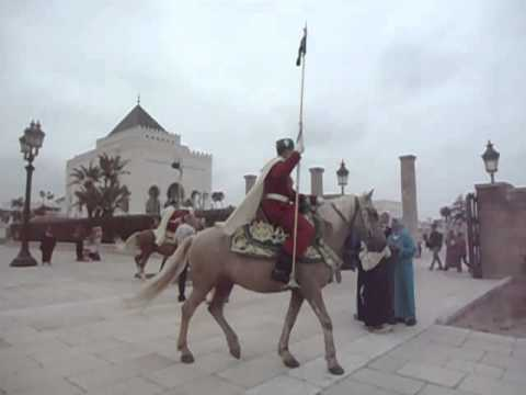 Changing the King's Guards Morocco Mausoleum of Mohammed V