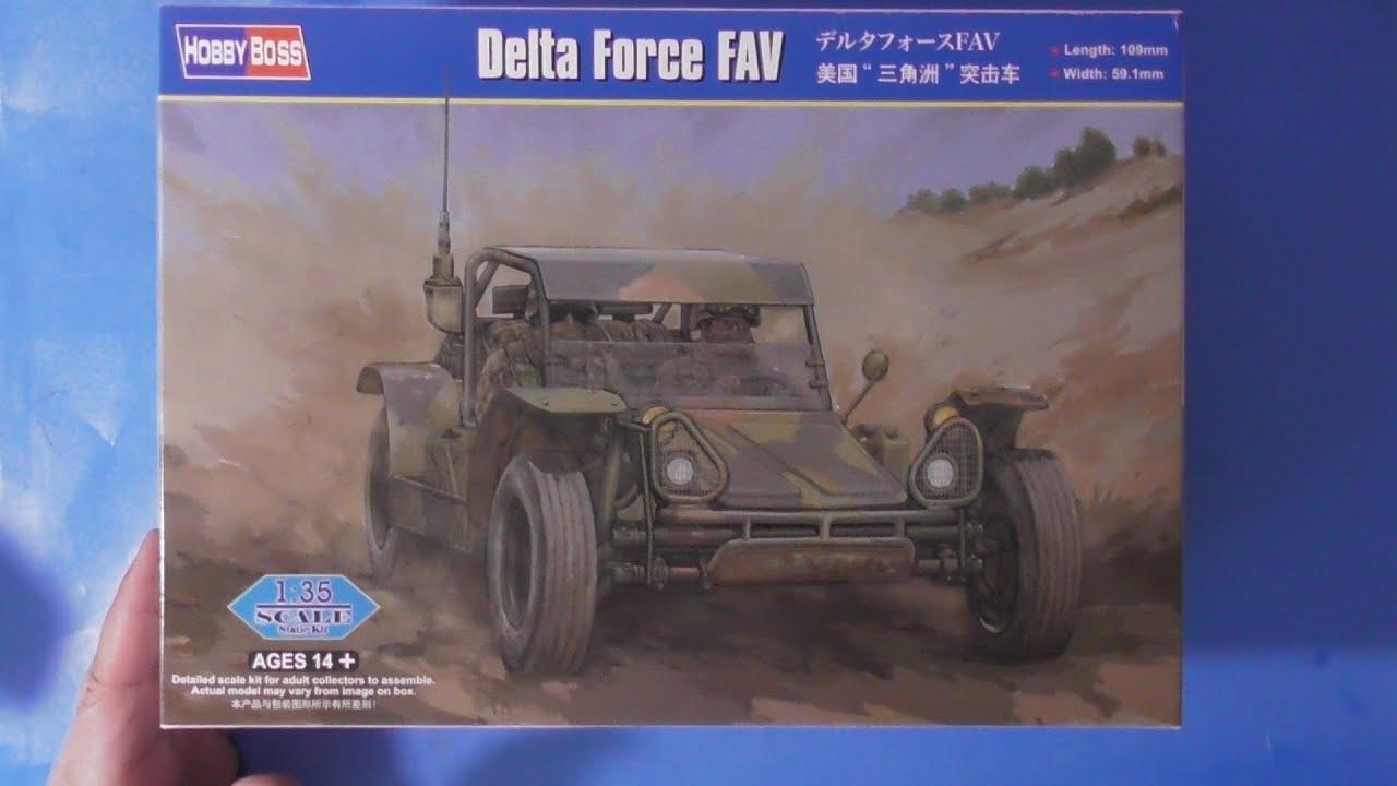 Sprue Review Hobby Boss 1/35 Delta Force FAV
