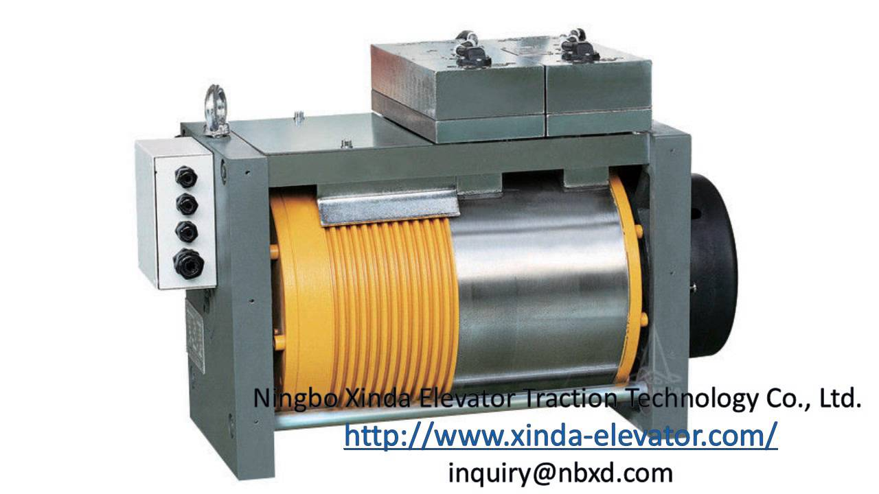 elevator traction motor traction electric motor gearless