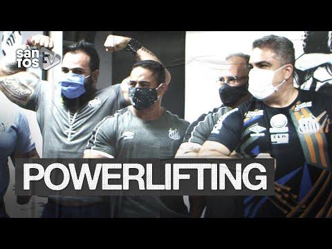 SANTOS APRESENTA SUA EQUIPE DE POWERLIFTING