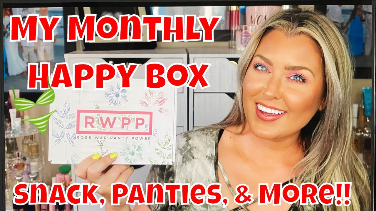 RWPP August 2020 Unboxing   New Panties, snacks and more!!