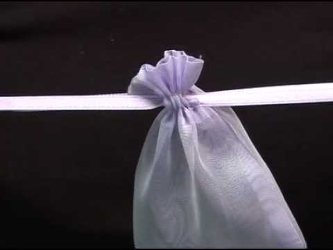 Lilac Organza Bags Pouches For Wedding Favours