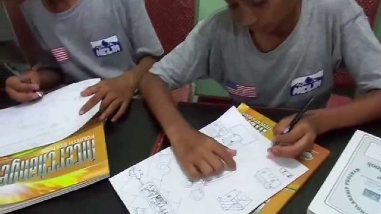 Students Writing Dashain And Tihar Greeting Cards Access Center