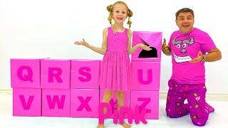 Nastya and ABC English alphabet for kids